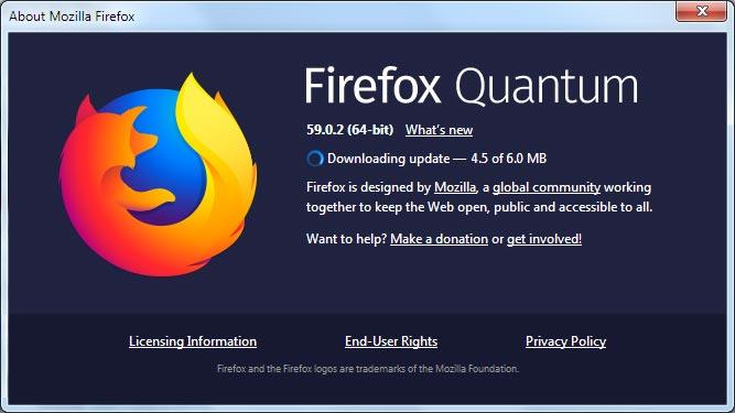 آپدیت کردن فایرفاکس به جدیدترین نسخه