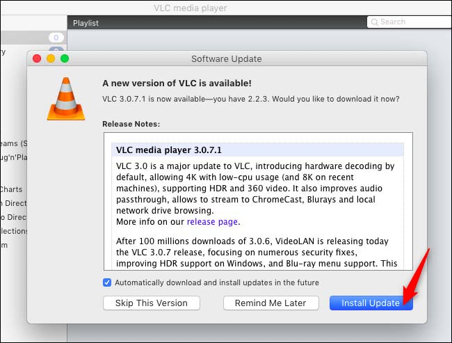 آموزش آپدیت کردن VLC در مک