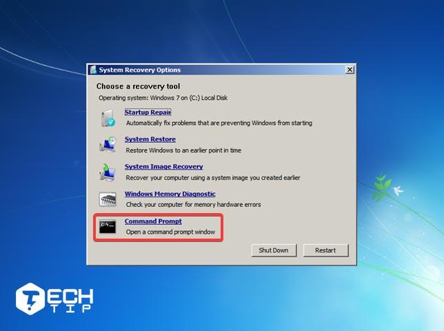 از دیسک تعمیر ویندوز 7 برای safe mode استفاده کنید