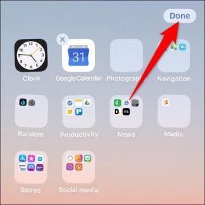 نام پوشه را در آیفون با 3D Touch یا Haptic Touch تغییر دهید