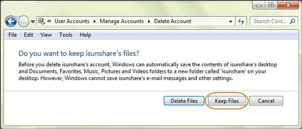 حذف حساب Administrator در ویندوز 7