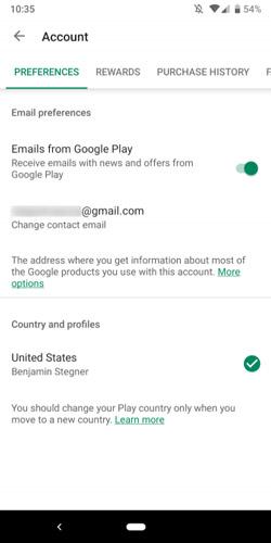 نحوه تغییر کشور در گوگل پلی