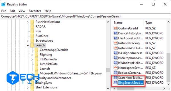 غیرفعال کردن جستجوی بینگ در منوی استارت ویندوز با رجیستری