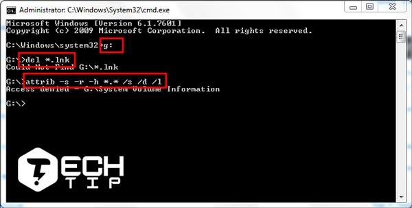 برای حذف ویروسشورتکات به صورت دستی مراحل زیر را دنبال کنید.