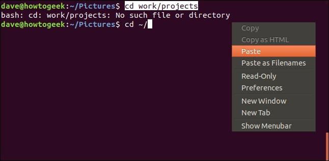 کپی و پیس کردن متن در ترمینال لینوکس با استفاده از کلیک راست