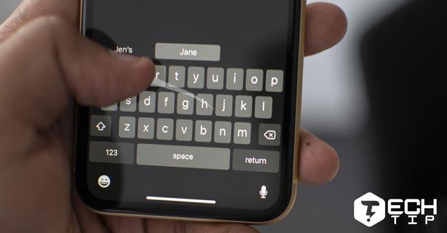 تایپ کشیدنی در iOS 13