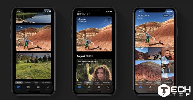 طراحی جدید Photos در iOS 13 آیفون