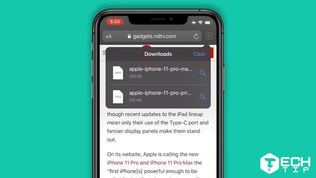 دانلود فایل در مرورگر سافاری iOS 13
