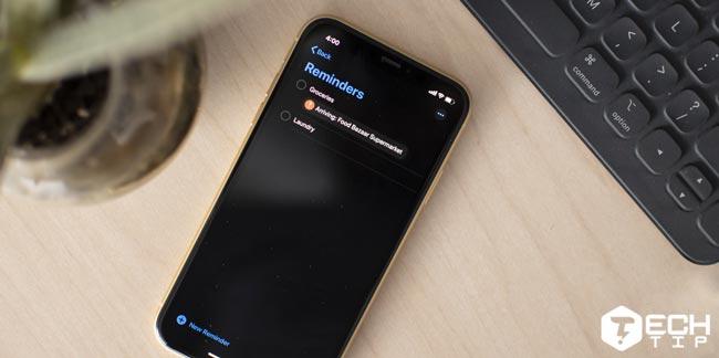 طراحی جدید اپلیکیشن Reminders در iOS 13