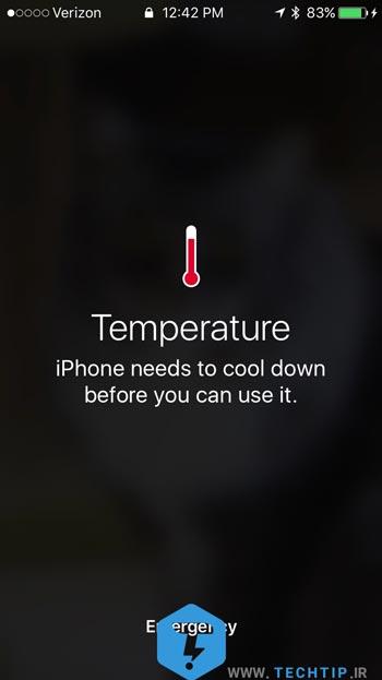 جلوگیری از داغ شدن آیفون و آیپد