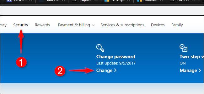 تغیر رمز اکانت مایکروسافت به صورت آنلاین
