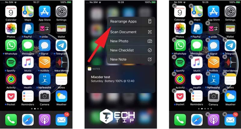 حذف برنامه ها در iOS 13 و iPadOS