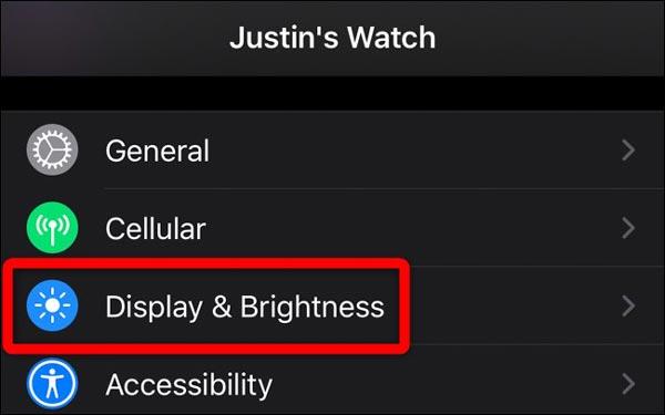 صفحه نمایش همیشه روشن اپل واچ را در آیفون غیرفعال کنید