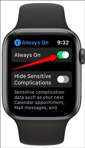 غیرفعال کردن صفحه نمایش همیشه روشن اپل واچ