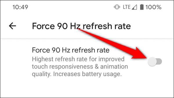 چگونه سرعت تازه سازی 90 هرتز را در گوگل پیکسل 4 غیر فعال کنیم