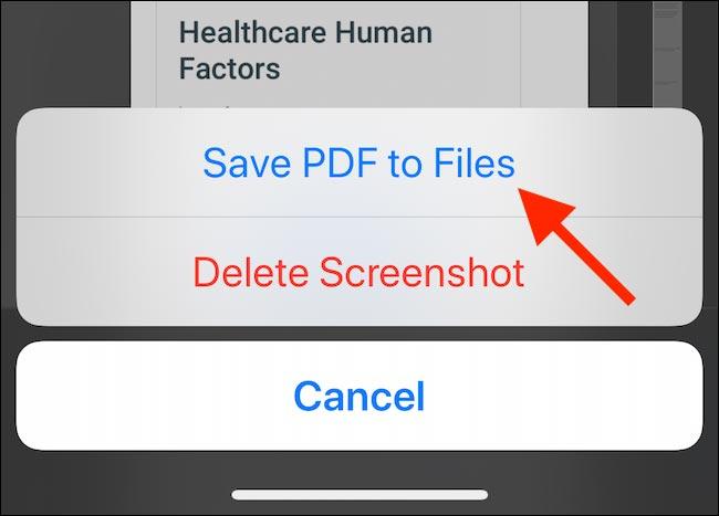 نحوه ذخیره یک تصویر تمام صفحه به عنوان پی دی اف