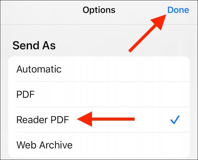 نحوه ذخیره یک وب سایت به عنوان پی دی اف در آیفون و آیپد از صفحه اشتراک گذاری