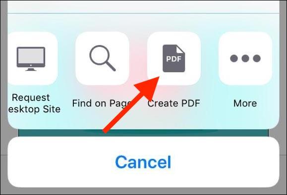 نحوه ذخیره یک وب سایت به عنوان پی دی اف در iOS 12 و قبل از آن