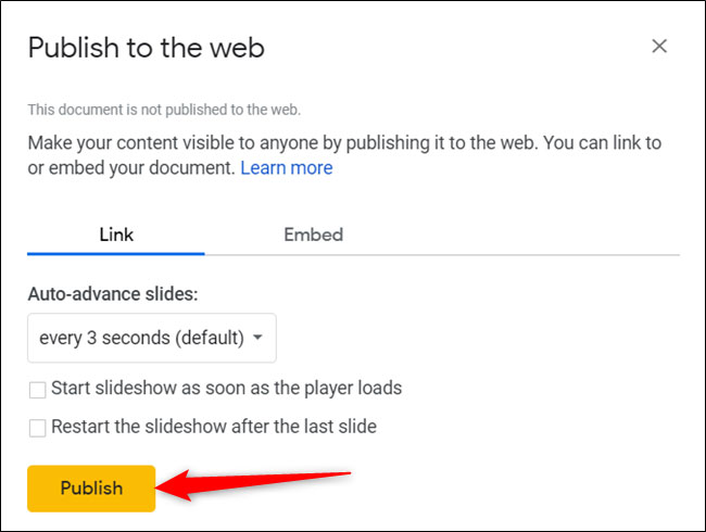 نحوه اشتراک گذاشتن اسلایدهای Google