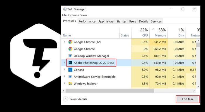 بستن برنامه ها باTask Manager در ویندوز 10
