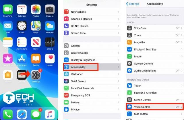 آموزش فعال کردنVoice Control در iOS 13