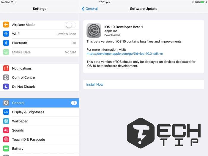 نسخه iOS را به روز کنید