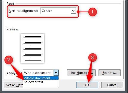 تنظیم کردن متن به صورت عمودی در ورد