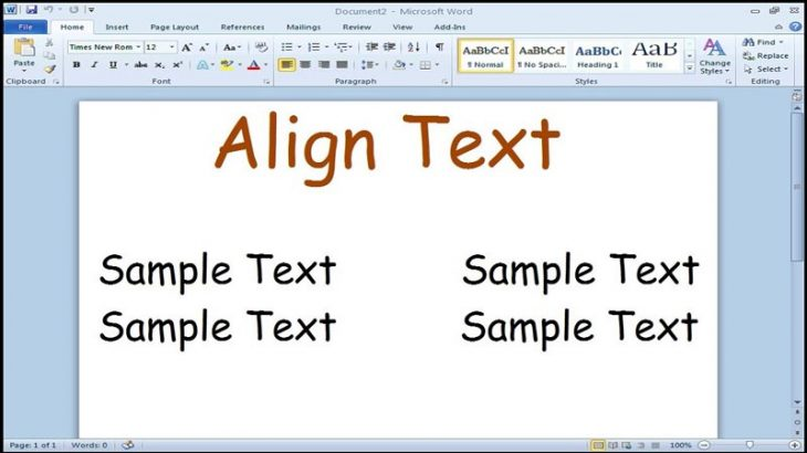 Aligning-Text-in-Word