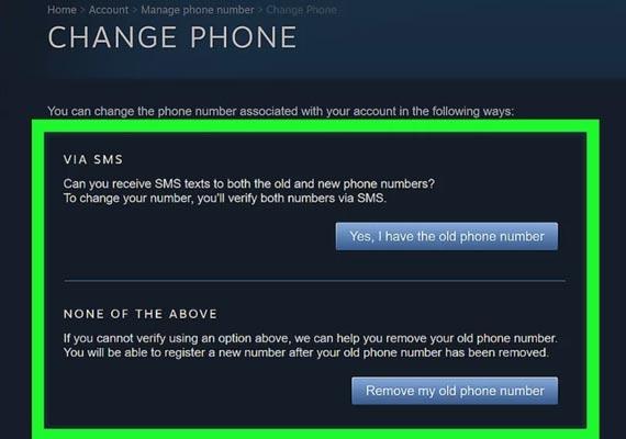 عوض کردن شماره تلفن استیم در کامپیوتر