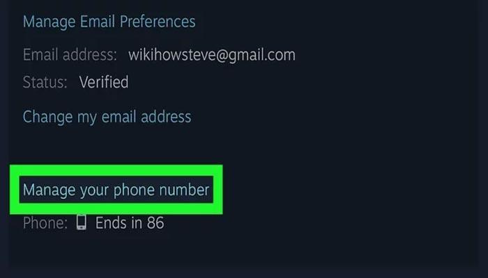 عوض کردن شماره تلفن در استیم با موبایل