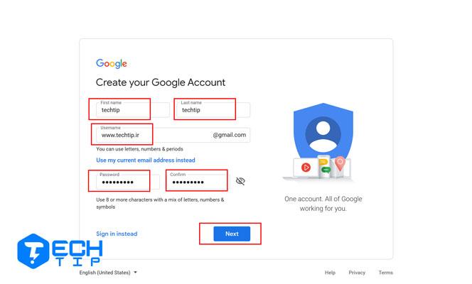 آموزش ساخت حساب گوگل برای خودم