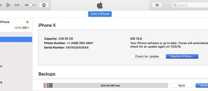 به روزرسانی مجدد از طریق iTunes