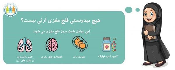 فلج مغزی یک بیماری ارثی نیست بلکه تاثیر پذیری زیادی دارد