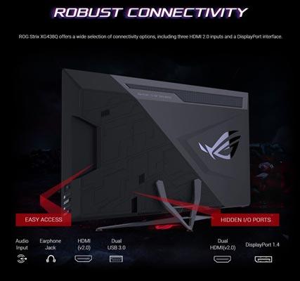 اتصالات ASUS ROG Strix XG438Q