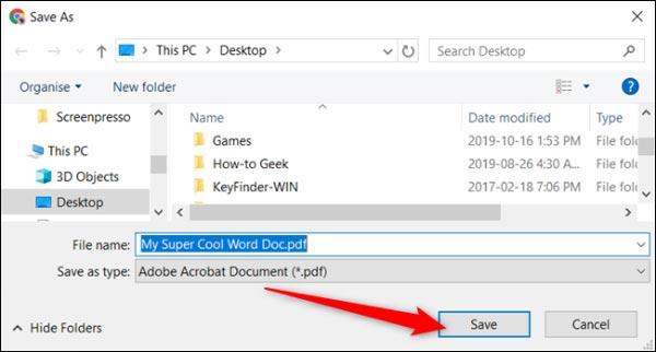 تبدیل فایل های ورد به پی دی فا با گوگل داک
