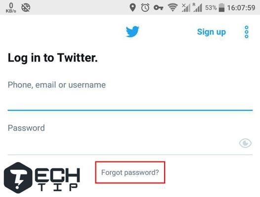 آموزش ریست کردن رمز حساب توییتر در گوشی