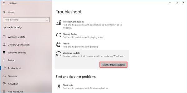 نحوه رفع مشکل آپدیت ویندوز با استفاده از Troubleshooter