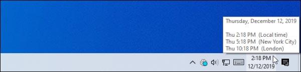 اضافه کردن ساعت منطقه زمانی متفاوت در ویندوز 10 و 8 و 7
