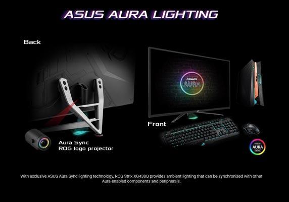 طراحی مانیتور ASUS ROG Strix XG438Q