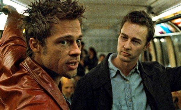 برد پیت در نقش تایلر داردن در فیلم باشگاه مشت زنی