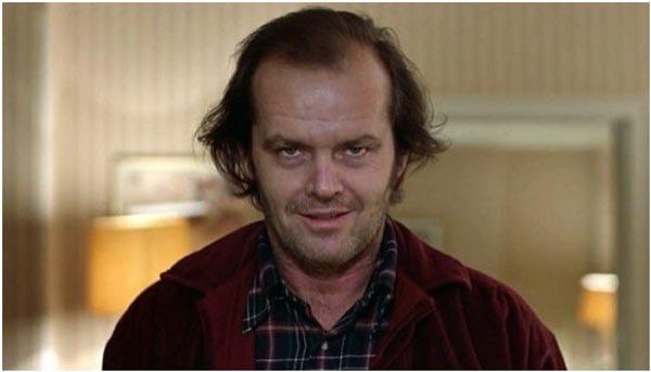 جک نیکلسون در نقش جک تورنس در فیلم درخشش