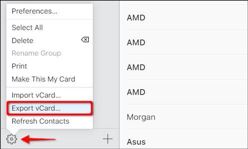 اکسپورت کردن مخاطبین آیفون از طریق iCloud