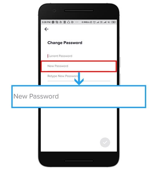 آموزش بازیابی رمز تیک تاک (اگر وارد حساب هستید)