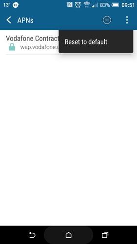 7- تنظیم مجدد APN اینترنت دستگاه