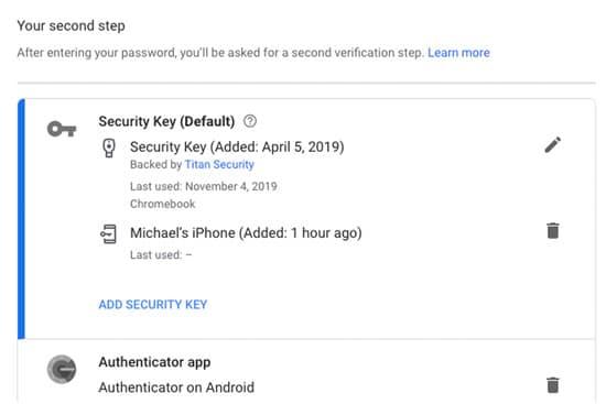 آموزش فعال کردن آیفون به عنوان کلید امنیتی گوگل