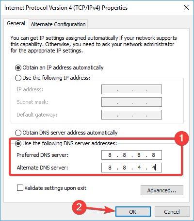 حل مشکل limited access وای فای با عوض کردن DNS