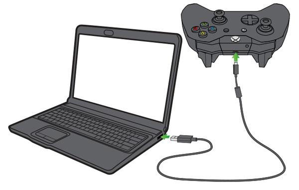 وصل کردن دسته ایکس باکس به کامپیوتر با کابل