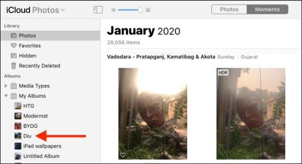 دانلود عکس های آیفون از iCloud در مک