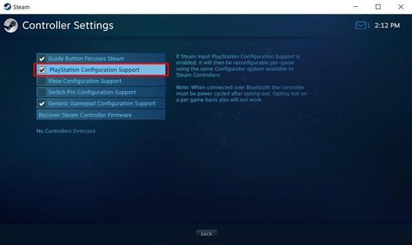 نحوه اتصال دسته PS4 به Steam