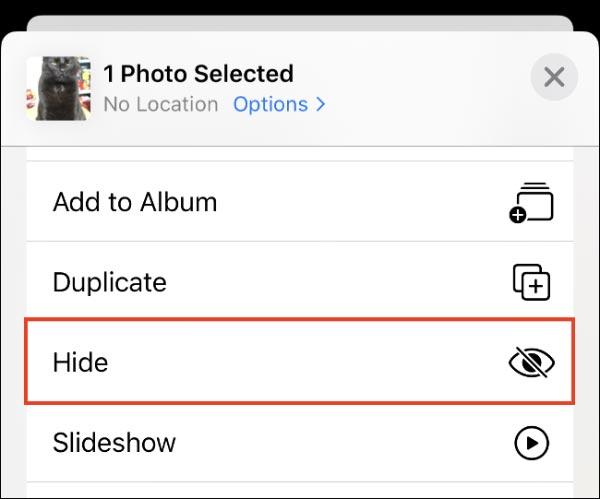 نحوه مخفی کردن عکس و فیلم در آیفون و آیپد